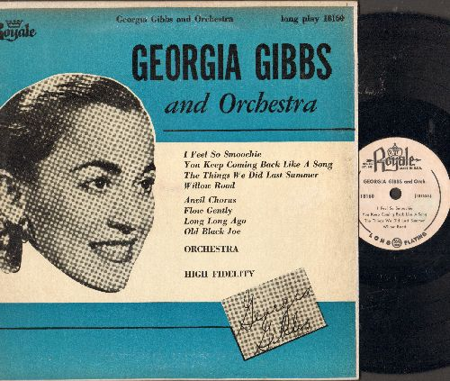 Gibbs, Georgia - Georgia Gibbs and Orchestr: I Feel So Smoochie, Willow Road, Anvil Chous, Old Black Joe (10 inch vinyl LP record) - NM9/EX8 - LP Records