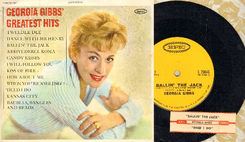 Gibbs, Georgia - Ballin' The Jack/Deed I Do (RARE 7 inch 33rpm record, small spindle hole, with juke box label and one-sided picture sleeve) - NM9/NM9 - 45 rpm Records