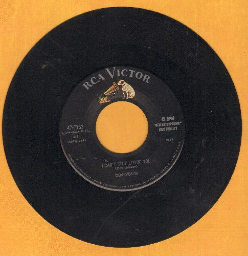 Gibson, Don - I Can't Stop Lovin' You/Just One Time  - EX8/ - 45 rpm Records