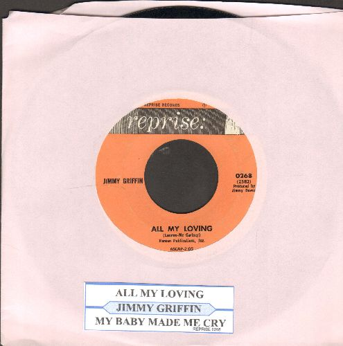Griffin, Jimmy - All My Loving/My Baby Made Me Cry (with juke box label) - EX8/ - 45 rpm Records