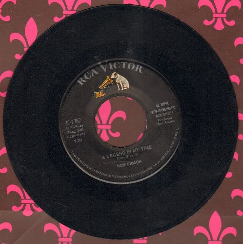 Gibson, Don - Far, Far Away/A Legend In My Time - EX8/ - 45 rpm Records