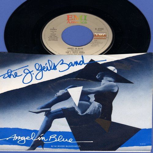 Geils, J. Band - Angel In Blue/River Blindness (with picture sleeve) - NM9/EX8 - 45 rpm Records
