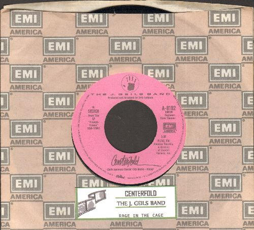 Geils, J. Band - Centerfold/Rage In The Cage (#1 US Billboard Chart Single of The Year 1982!) (with juke box label and company sleeve) - EX8/ - 45 rpm Records