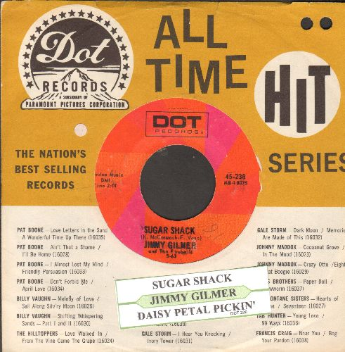 Gilmer, Jimmy & The Fireballs - Sugar Shack/Daysy Petal Pickin' (double-hit re-issue with juke box label and Dot company sleeve) - EX8/ - 45 rpm Records