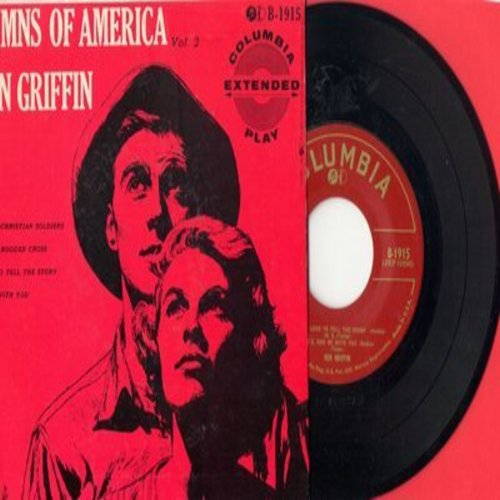 Griffin, Ken - Hymns Of America: Onward, Christian Soliders/The Old Rugged Cross/I Love To Tell The Story/God Be With You (Vinyl EP record with picture cover) - NM9/NM9 - 45 rpm Records