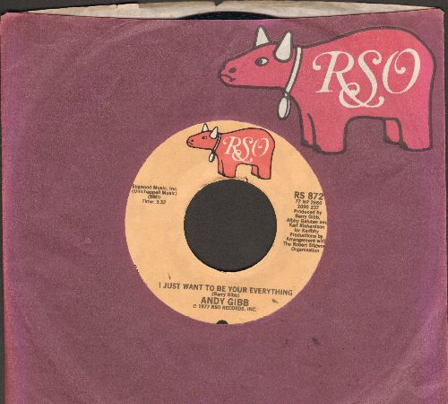 Gibb, Andy - I Just Want To Be Your Everything/In The End (MINT condition with RSO company sleeve) - M10/ - 45 rpm Records