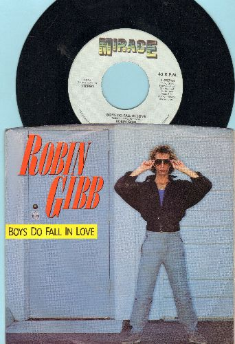 Gibb, Robin - Boys Do Fall In Love/Diamonds (with picture sleeve) - NM9/EX8 - 45 rpm Records