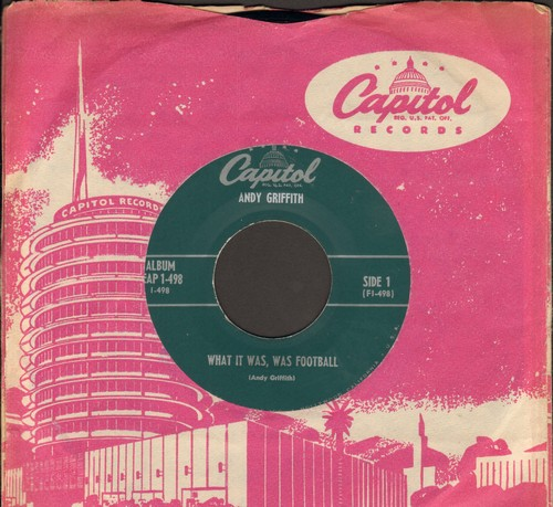 Griffith, Andy - What It Was, Was Football/Romeo And Juliet (Vinyl EP record with vintage Capitol company sleeve) - EX8/ - 45 rpm Records