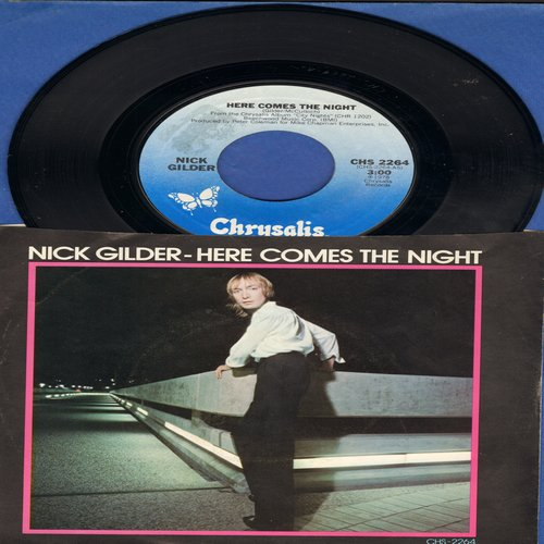 Gilder, Nick - Here Comes The Night/Rockaway (with picture sleeve) - NM9/EX8 - 45 rpm Records
