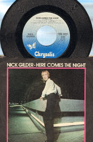 Gilder, Nick - Here Comes The Night/Rockaway (with picture sleeve) - NM9/VG6 - 45 rpm Records