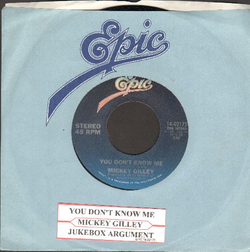 Gilley, Mickey - You Don't Know Me/Jukebox Argument (with juke box label and  Epic company sleeve) - EX8/ - 45 rpm Records