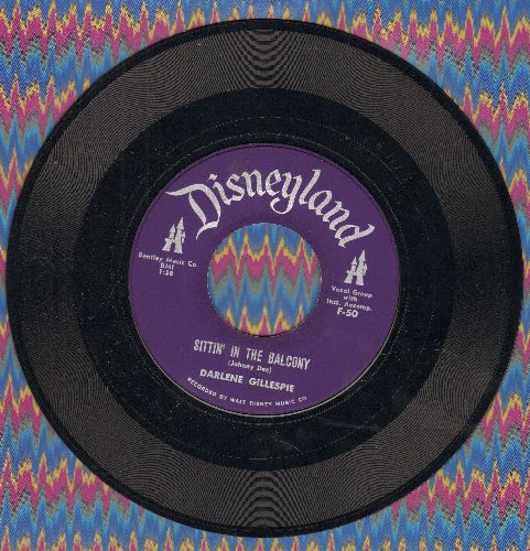 Gillespie, Darlene - Sittin' In The Balcony/Too Much (RARE Disney Novelty by one of the Original Mouseketeers!) - NM9/ - 45 rpm Records