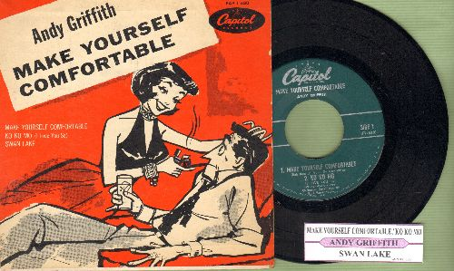 Griffith, Andy - Make Yourself Comfortable/Swan Lake(vinyl EP record with juke box label and picture cover) - EX8/EX8 - 45 rpm Records