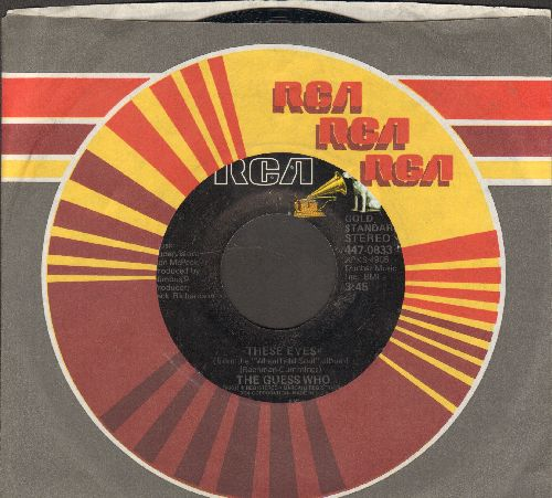 Guess Who - These Eyes/No Time (double-hit re-issue with RCA company sleeve) - EX8/ - 45 rpm Records