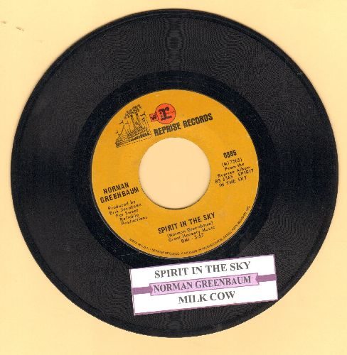 Greenbaum, Norman - Spirit In The Sky/Milk Cow (with juke box label) - VG7/ - 45 rpm Records