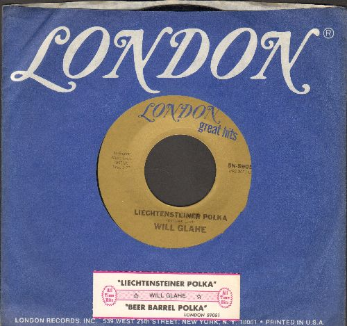 Glahe, Will - Liechtensteiner Polka/Beer Barrel Polka (authentic-looking re-issue with London company sleeve and juke box label) - M10/ - 45 rpm Records
