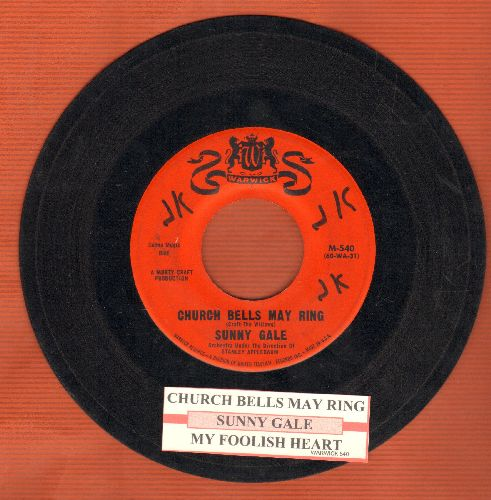 Gale, Sunny - Church Bells May Ring (Overlooked FANTASTIC Version of the Vintage Rock & Roll Classic!)/My Foolish Heart (with juke box label) (minor wol) - EX8/ - 45 rpm Records
