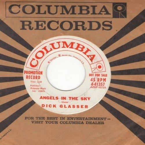 Glasser, Dick - Angels In The Sky/Get Thee Behind Me (DJ advance pressing with vintage Columbia company sleeve) - NM9/ - 45 rpm Records