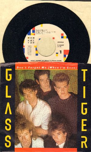 Glass Tiger - Don't Forget Me/Ancient Evenings (with picture sleeve) - EX8/EX8 - 45 rpm Records
