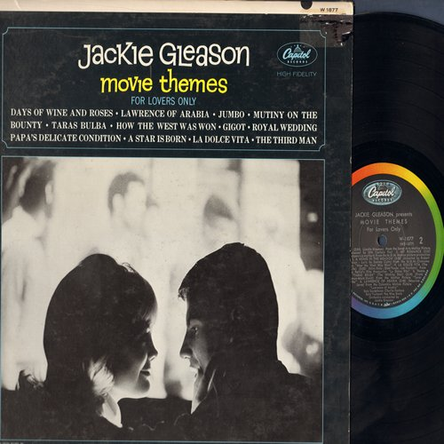 Gleason, Jackie - Movie Themes For Lovers Only: Lawrence Of Arabia, umbo, La Dolce Vita, The Third Man (Vinyl MONO LP record) - NM9/EX8 - LP Records