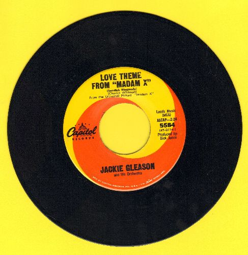 Gleason, Jackie & His Orchestra - Love Theme From -Madam X-/One Of Those Songs - NM9/ - 45 rpm Records