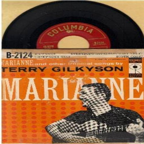 Gilkyson, Terry & The Easy Riders - Marianne/Champagne Wine/South Coast/Everybody Loves Saturday Night (Vinyl EP record with picture cover) - NM9/VG7 - 45 rpm Records