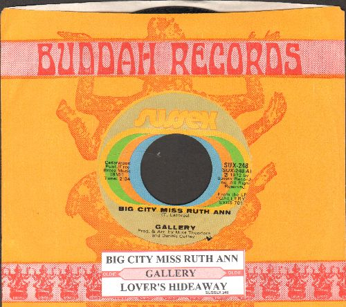 Gallery - Big City Miss Ruth Ann/Lover's Hideaway (with Buddah company sleeve) - NM9/ - 45 rpm Records