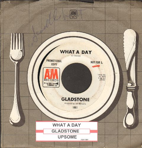 Gladstone - What A Day/Upsome (DJ advance pressing with juke box label and company sleeve) - EX8/ - 45 rpm Records