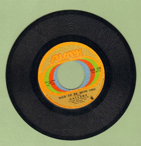 Gallery - Nice To Be With You/Ginger Haired Man  - EX8/ - 45 rpm Records