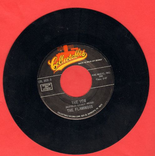 Flamingos - The Vow/Would I Be Crying (double-hit re-issue of vintage Doo-Wop recordings) - NM9/ - 45 rpm Records
