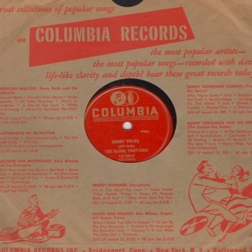 Globe Trotters - Bunny Polka/Ferret-Boat Serenade (10 inch 78rpm record with Columbia company sleeve) - VG7/ - 78 rpm