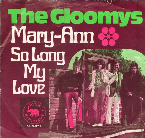 Gloomys - Mary-Ann/So Long My Love (British Pressing with picture sleeve) - EX8/VG7 - 45 rpm Records