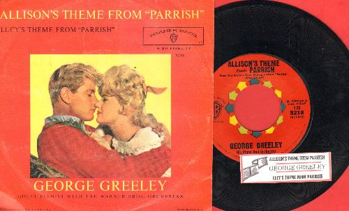 Greeley, George & Orchestra - Lucy's Theme From -Parrish-/Allison's Theme From -Parrish- (with picture sleeve and juke box label) - NM9/VG7 - 45 rpm Records