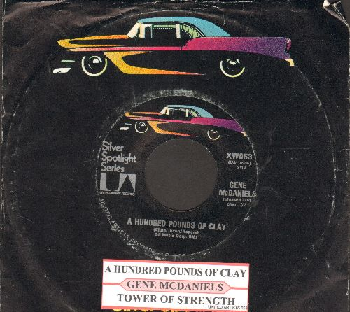 McDaniels, Gene - A Hundred Pounds Of Clay/Tower Of Strength (MINT condition early re-issue with company sleeve and juke box label)  - M10/ - 45 rpm Records