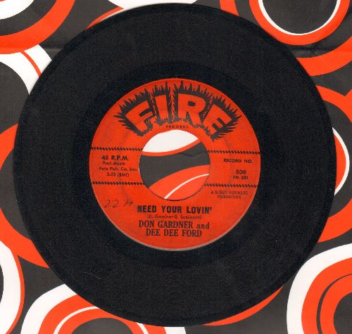 Gardner, Don & Dee Dee Ford - I Need Your Lovin'/Tell Me (Vintage R&B 2-sider!) - EX8/ - 45 rpm Records