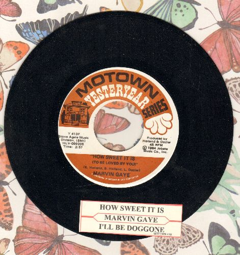 Gaye, Marvin - How Sweet It Is (To Be Loved By You)/I'll Be Doggone (double-hit re-issue with juke box label) - NM9/ - 45 rpm Records