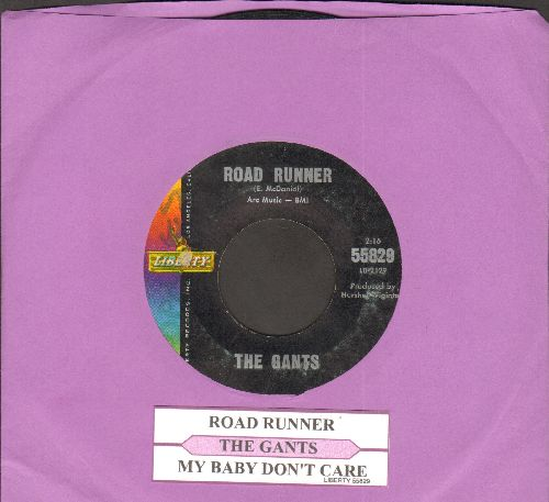 Gants - Road Runner/My Baby Don't Care (with juke box label) - VG7/ - 45 rpm Records