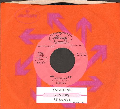 Genesis - Angeline/Suzanne (DJ advance pressing with juke box label and Mercury company sleeve) - M10/ - 45 rpm Records