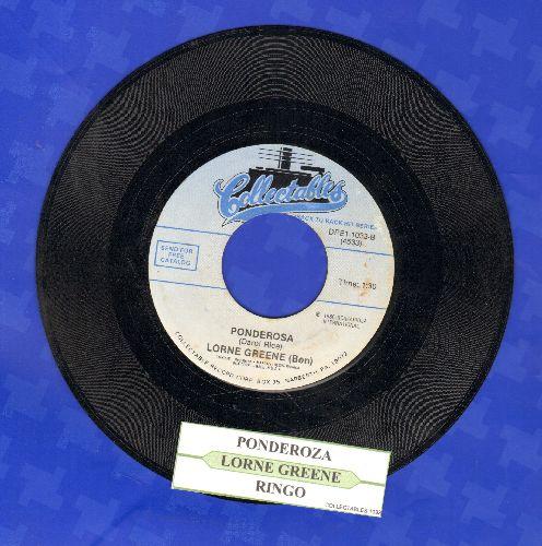 Greene, Lorne - Ringo: Introduction/Ponderosa (re-issue) - NM9/ - 45 rpm Records