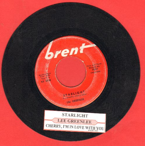 Greenlee, Lee - Starlight/Cherry, I'm In Love With You (with juke box label) - VG7/ - 45 rpm Records