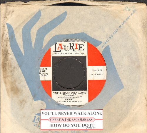 Gerry & The Pacemakers - How Do You Do It?/You'll Never Walk Alone (first pressing with juke box label and Laurie company sleeve) - NM9/ - 45 rpm Records