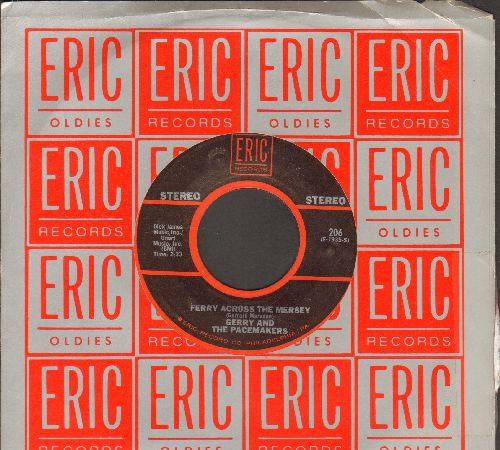 Gerry & The Pacemakers - Ferry Across The Mersey/I Like It (double-hit re-issue with Eric company sleeve) - NM9/ - 45 rpm Records
