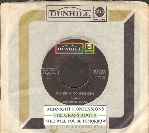 Grass Roots - Midnight Confessions/Who Will You Be Tomorrow (with juke box label and company sleeve) - NM9/ - 45 rpm Records