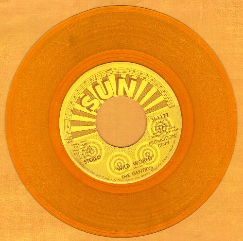 Gentry's - Wild World (double-A-sided Yellow Vinyl DJ advance pressing) - NM9/ - 45 rpm Records