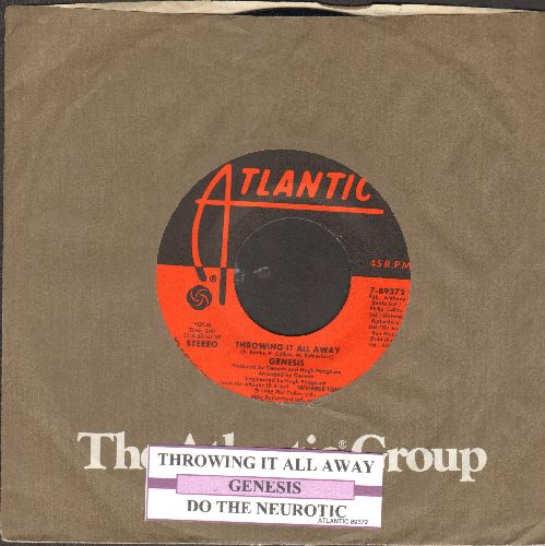 Genesis - Throwing It All Away/Do The Neurotic (with juke box label and Atlantic company sleeve) - EX8/ - 45 rpm Records