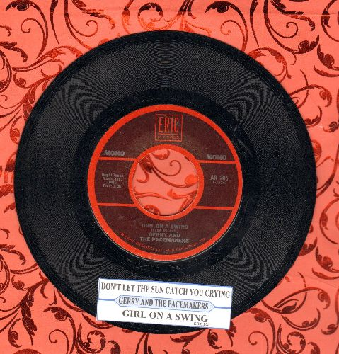 Gerry & The Pacemakers - Don't Let The Sun Catch You Crying/Girl On A Swing (double-hit re-issue with juke box label) - NM9/ - 45 rpm Records