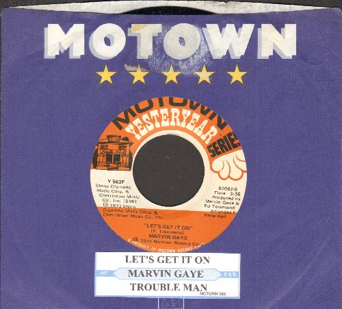 Gaye, Marvin - Let's Get It On/Trouble Man (double-hit re-issue with juke box label and Motown company sleeve) - NM9/ - 45 rpm Records