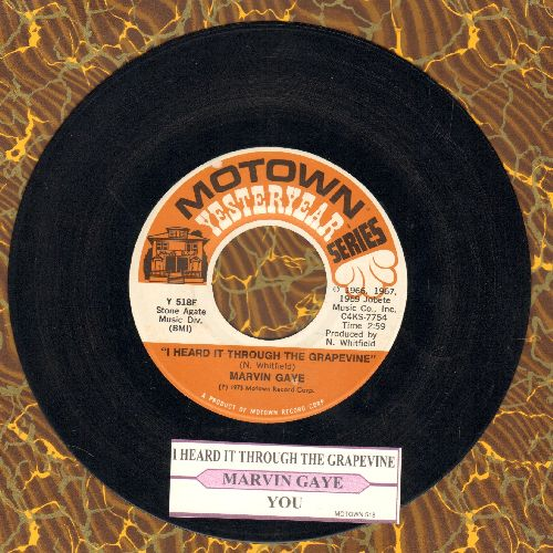 Gaye, Marvin - I Heard It Through The Grapevine/You (double-hit re-issue with juke box label) - EX8/ - 45 rpm Records