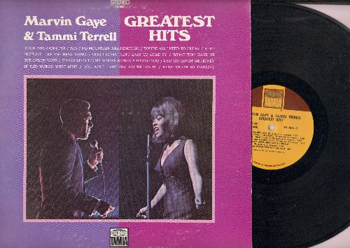 Gaye, Marvin & Tammi Terrell - Greatest Hits: Your Precious Love, Ain't No Mountain High Enough, Ain't Nothing Like The Real Thing, What You Gave Me (vinyl STEREO LP record) - EX8/EX8 - LP Records