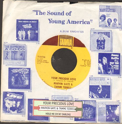 Gaye, Marvin & Tammi Terrell - Your Precious Love/Hold Me Oh My Darling (with company sleeve) - EX8/ - 45 rpm Records
